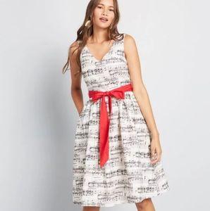 Modcloth Musical Notes Dress